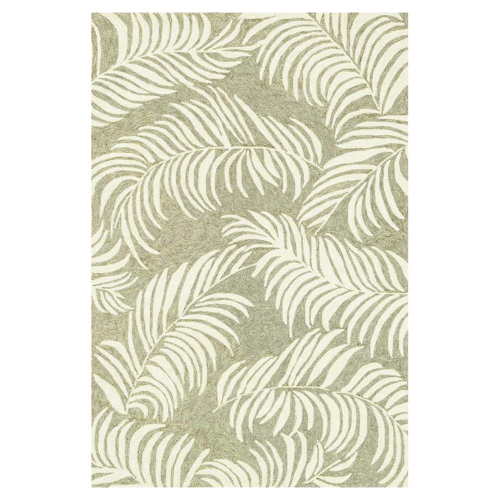 Fern Coastal Beach Sage Leaf Outdoor Rug 5x7 6 Kathy