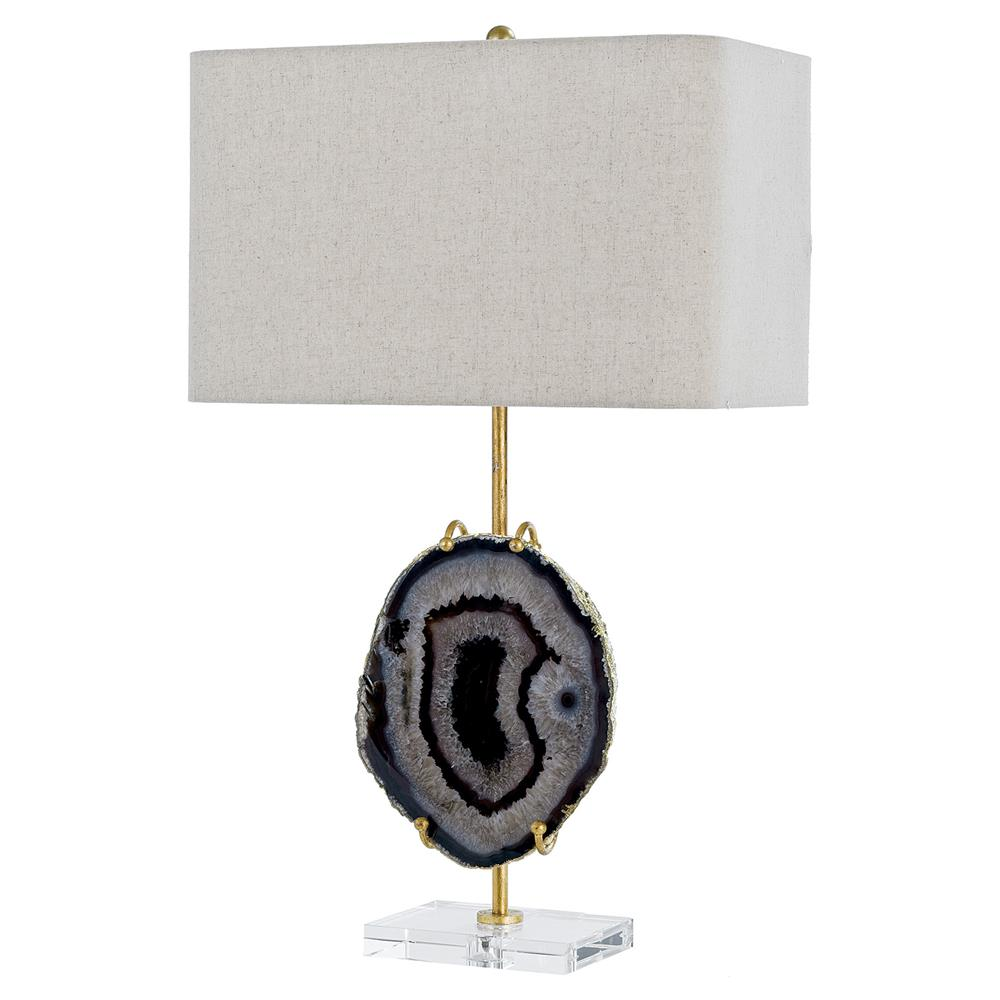 Beryl modern classic black agate gold table lamp kathy kuo home aloadofball Gallery