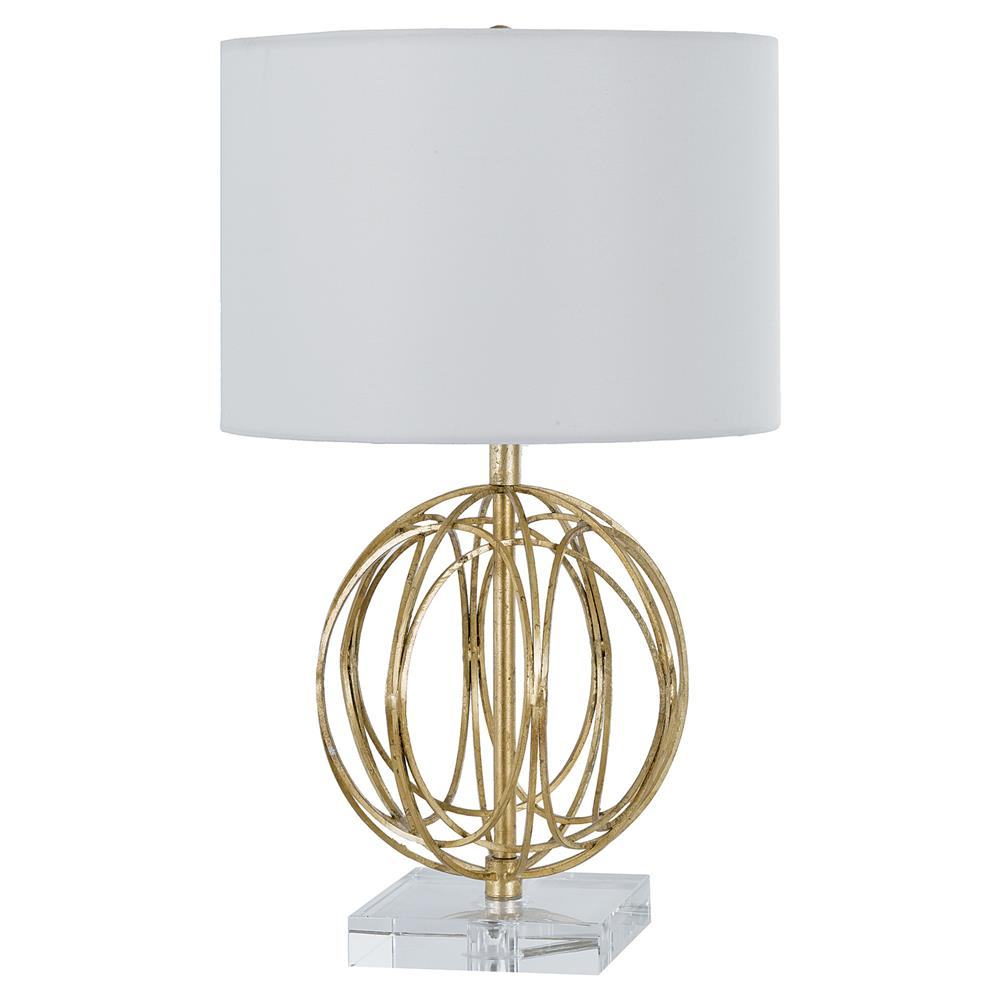 Mills Modern Classic Gold Acrylic Sphere Table Lamp