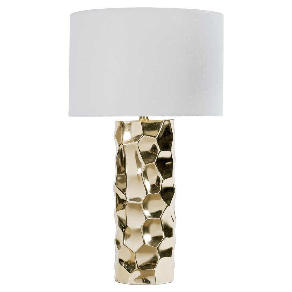 Devin modern gold divet column table lamp kathy kuo home aloadofball Images