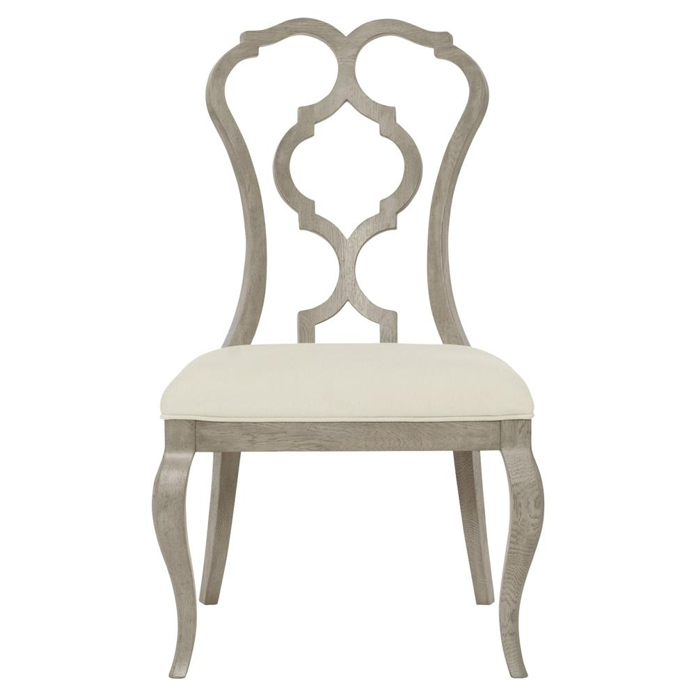 Modern french dining chair - Michaela French Country Wood Upholstered Dining Side Chair Kathy Kuo Home