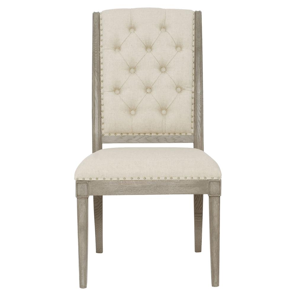 Michaela French Country Wood Upholstered Button Tufted Dining Side Chair |  Kathy Kuo Home ...
