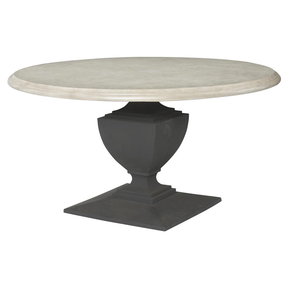 Neil French Concrete Pedestal Round Top Outdoor Dining Table Kathy