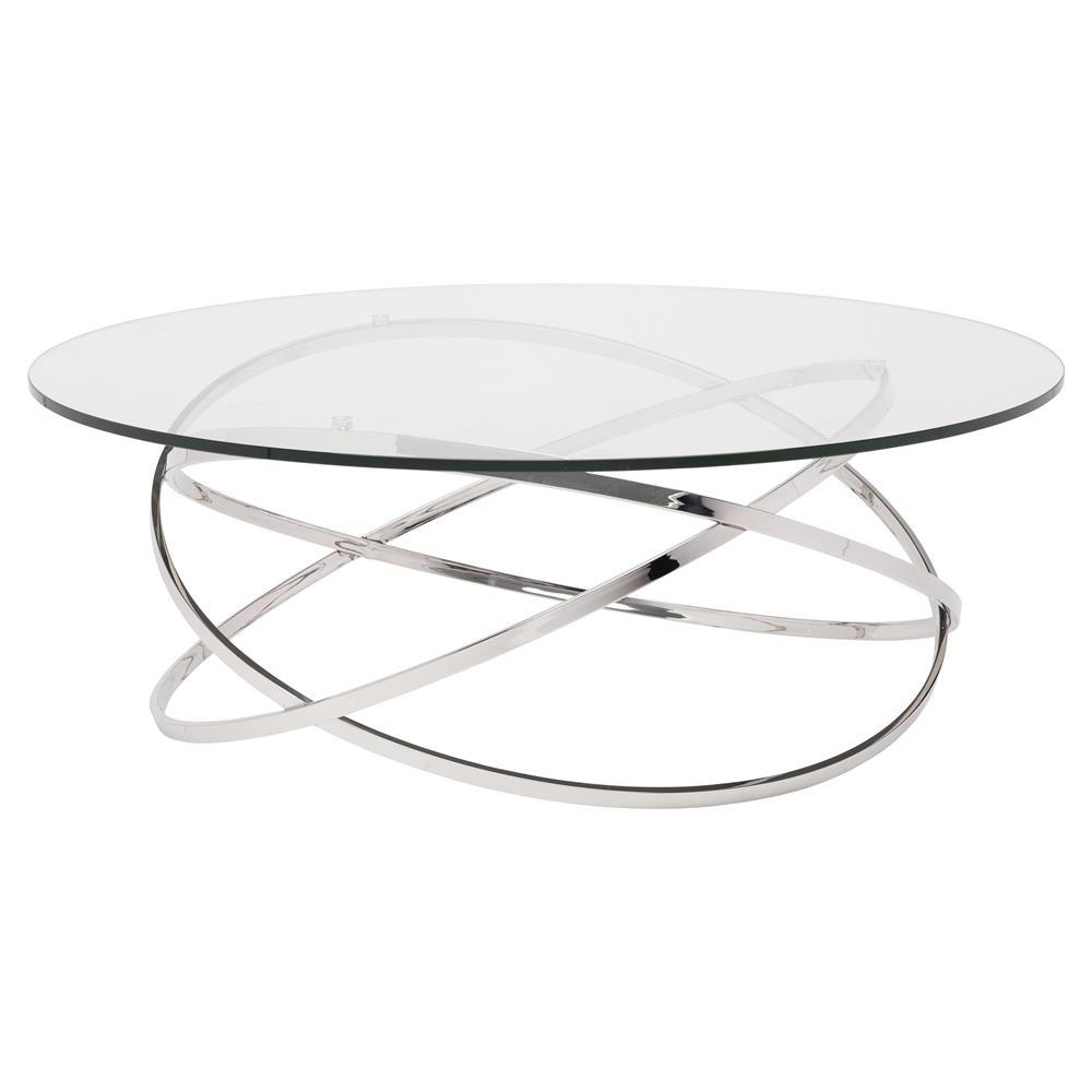 Savannah Modern Classic Steel Glass Coffee Table