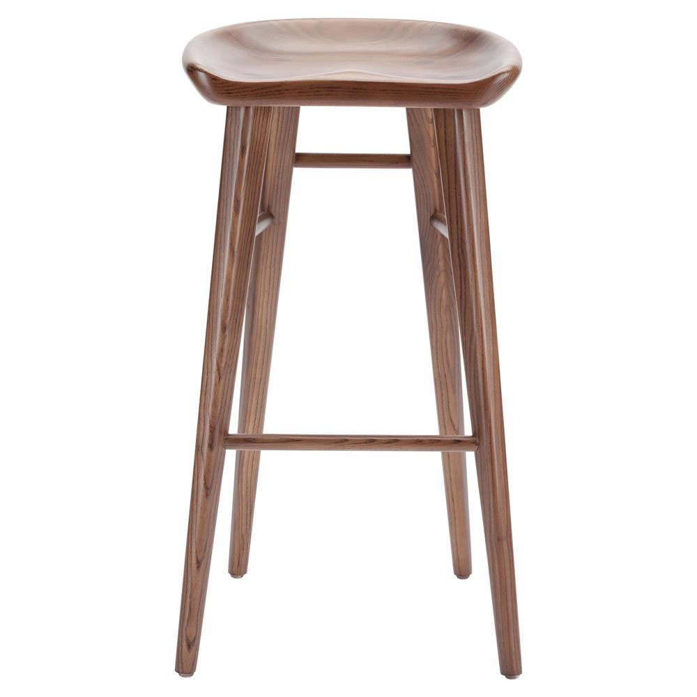 jacob modern classic brown walnut wood counter stool kathy kuo home. Black Bedroom Furniture Sets. Home Design Ideas