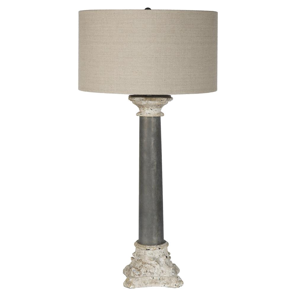 table lamps zincourt french country rustic architect column table lamp. Black Bedroom Furniture Sets. Home Design Ideas