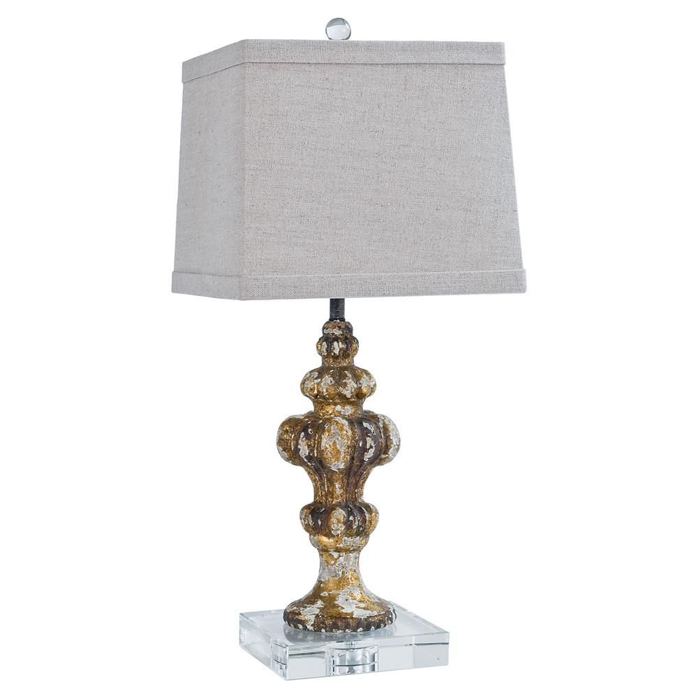 French Modern Acrylic Rustic Table Lamp Kathy Kuo Home