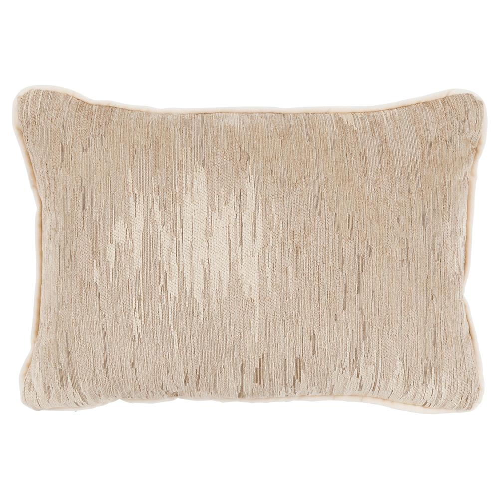 Oz Modern Classic Champagne Beige Linear Pillow 13x19