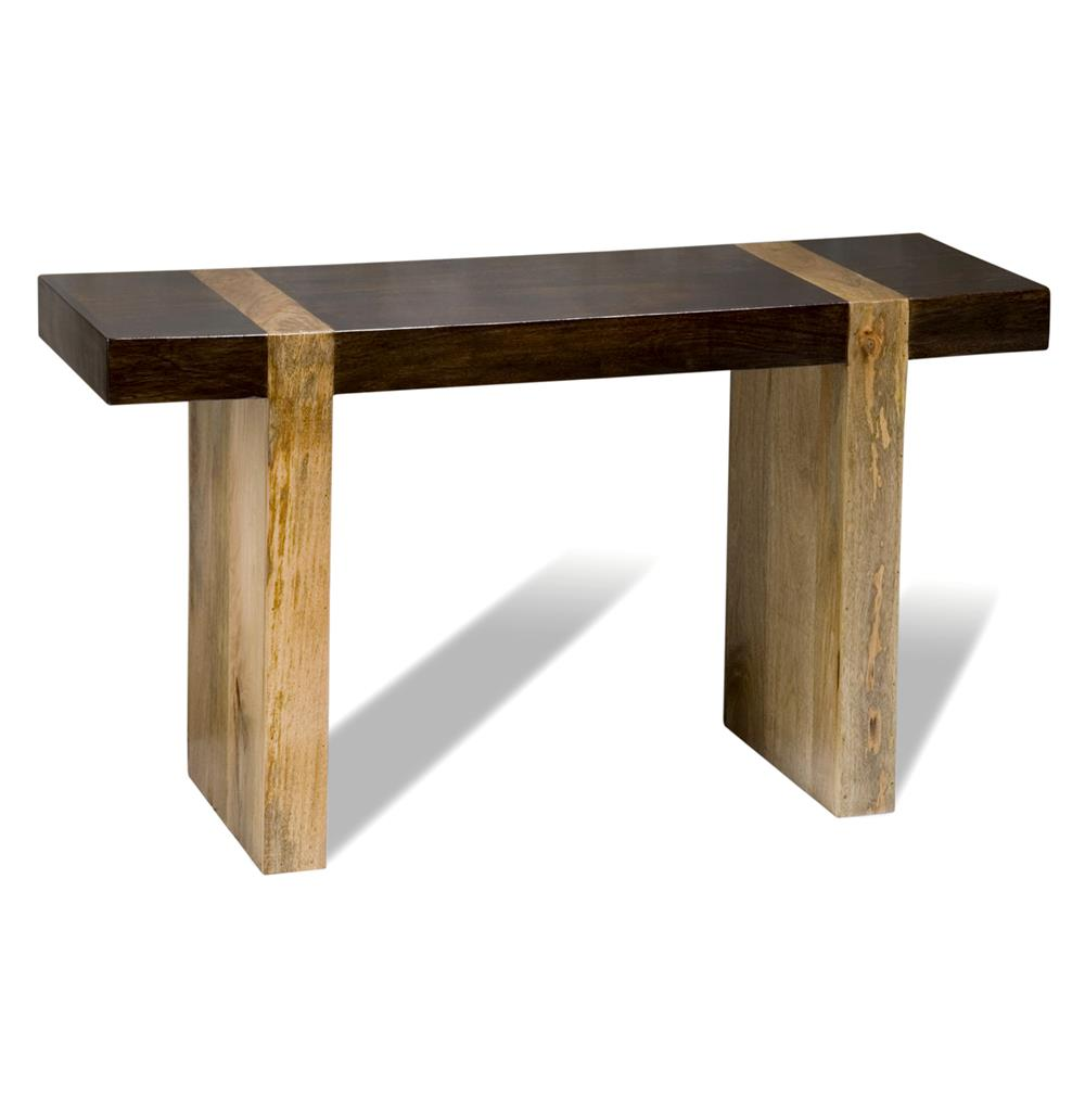 Berkeley chunky wood modern rustic console sofa table for Table console