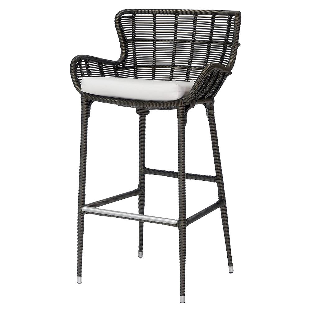 Palecek Palermo Modern Classic Espresso Outdoor Counter Stool