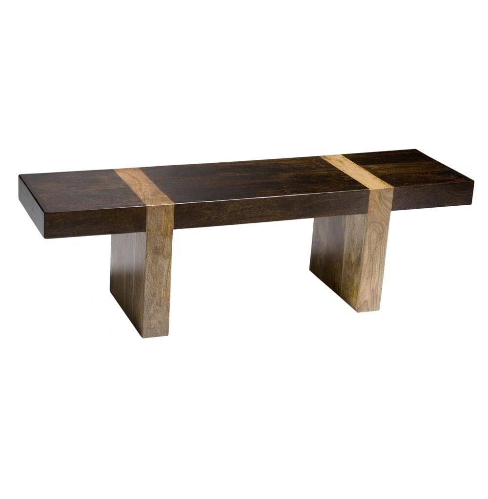 berkeley solid wood modern rustic bench low console  kathy kuo home -