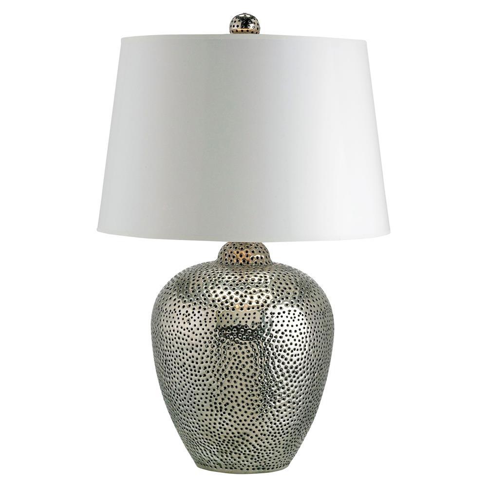 lighting table lamps cavan global bazaar hammered silver table lamp. Black Bedroom Furniture Sets. Home Design Ideas