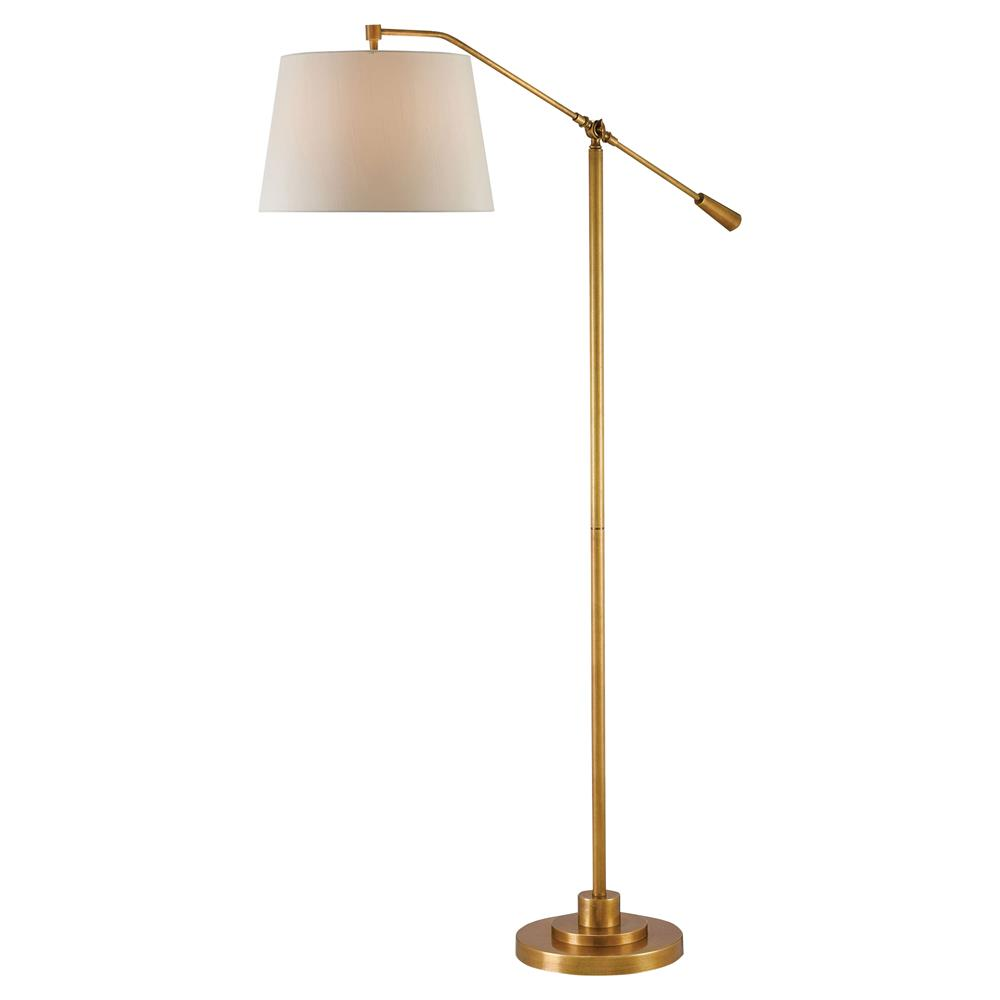 Karayan Modern Classic Antique Brass Swing Arm Floor Lamp