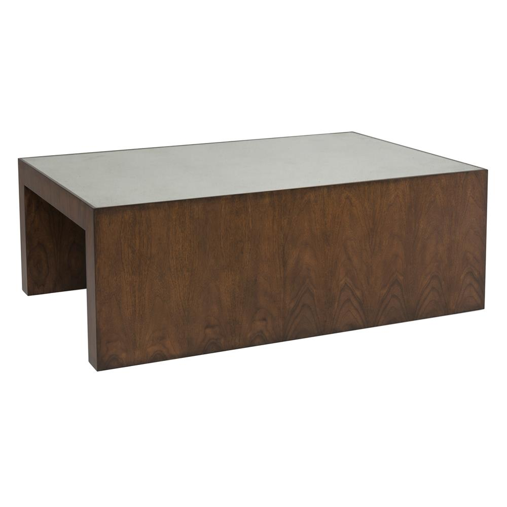 Modern Coffee Table Brown: Hentley Modern Classic Brown Walnut Mirror Coffee Table