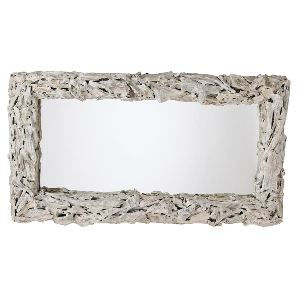 Arianna coastal beach white wash driftwood mirror kathy for Large white mirror