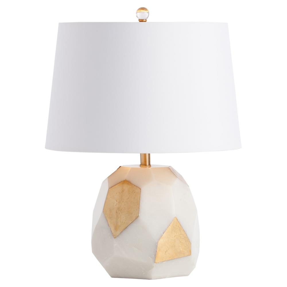 Linza regency ivory faceted brass accent table lamp kathy kuo home aloadofball Images