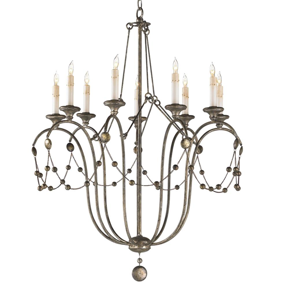 Parthina french country hammered vintage iron chandelier French country chandelier