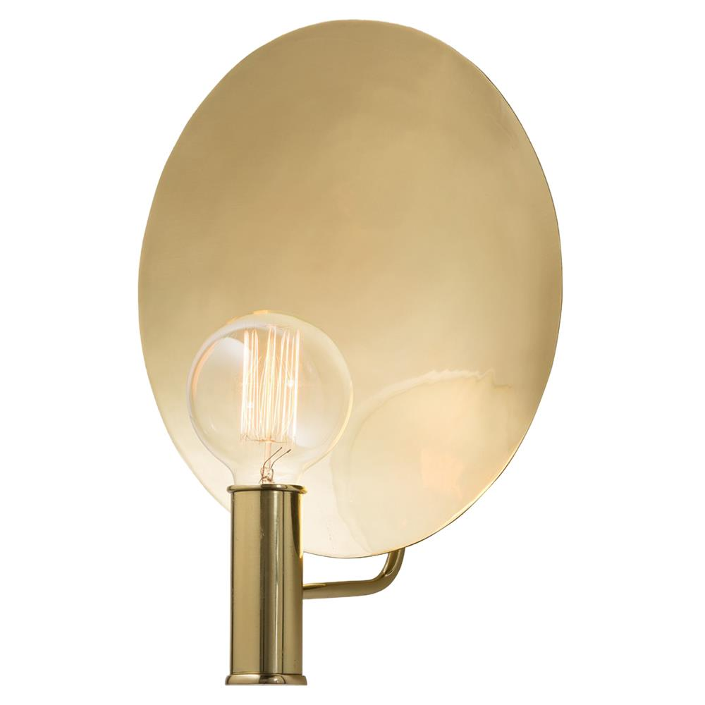 Photoflash Hollywood Regency Polished Brass Wall Sconce Kathy Kuo Home
