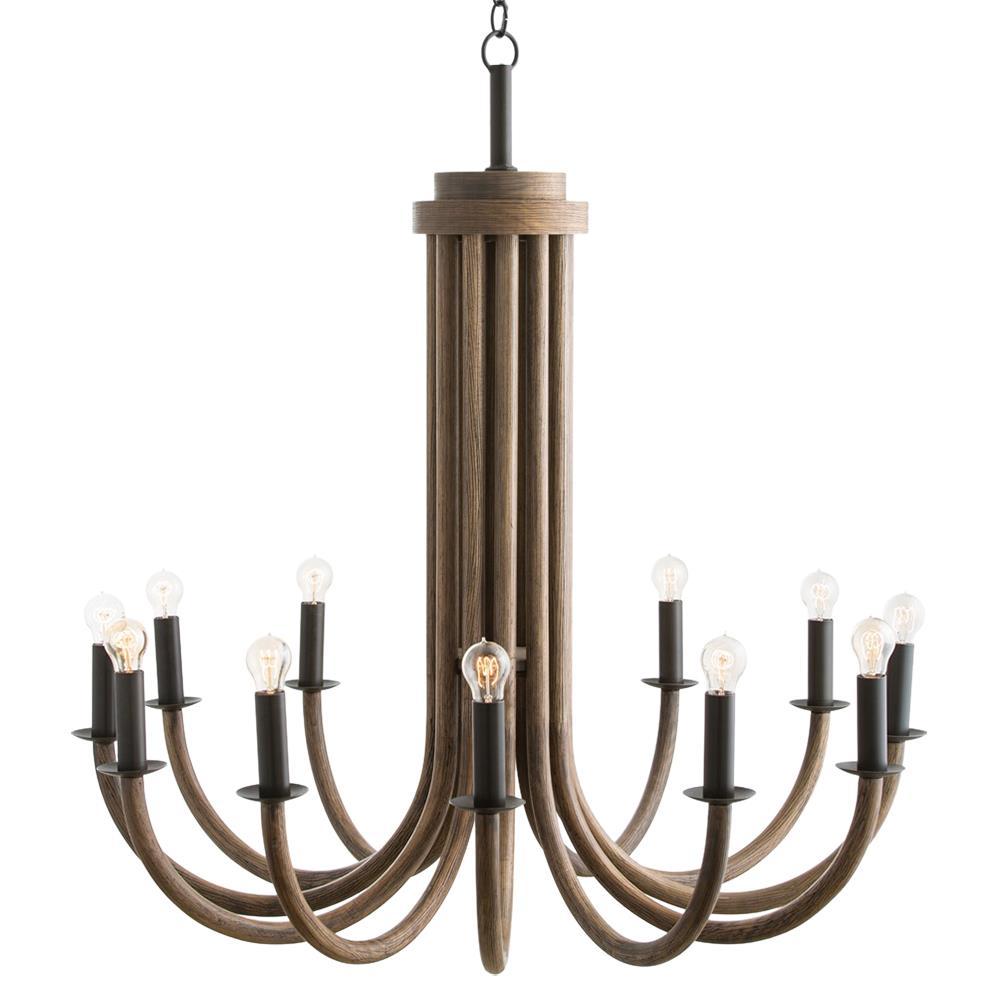 jacobsen rustic modern wood flute iron chandelier kathy