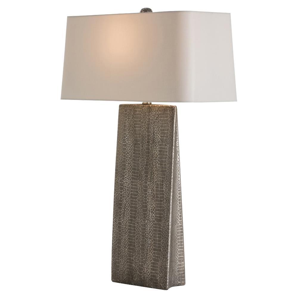 Arteriors Ravi Modern Grey Python Print Table Lamp