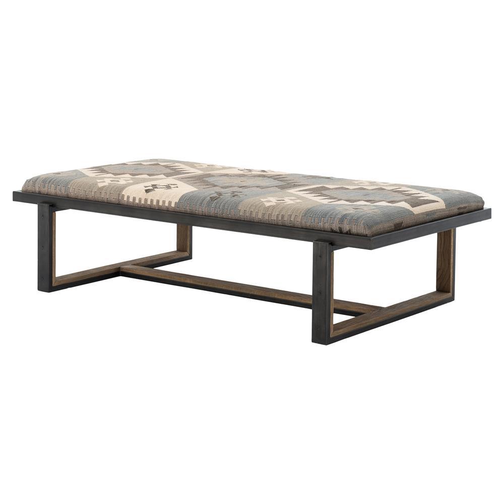 Sierra global bazaar dark wood blue kilim coffee table for Bizarre coffee table