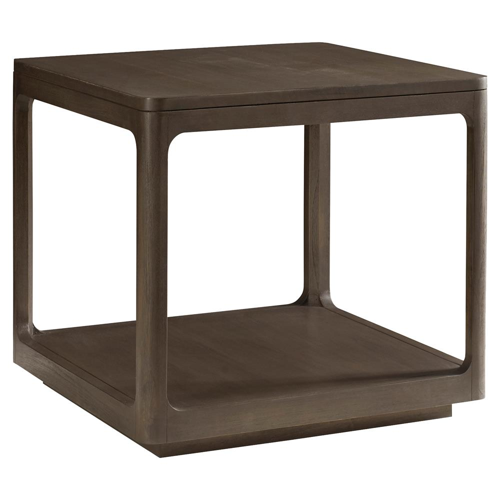 Robin modern classic polished teak cube end table kathy for Modern accent tables