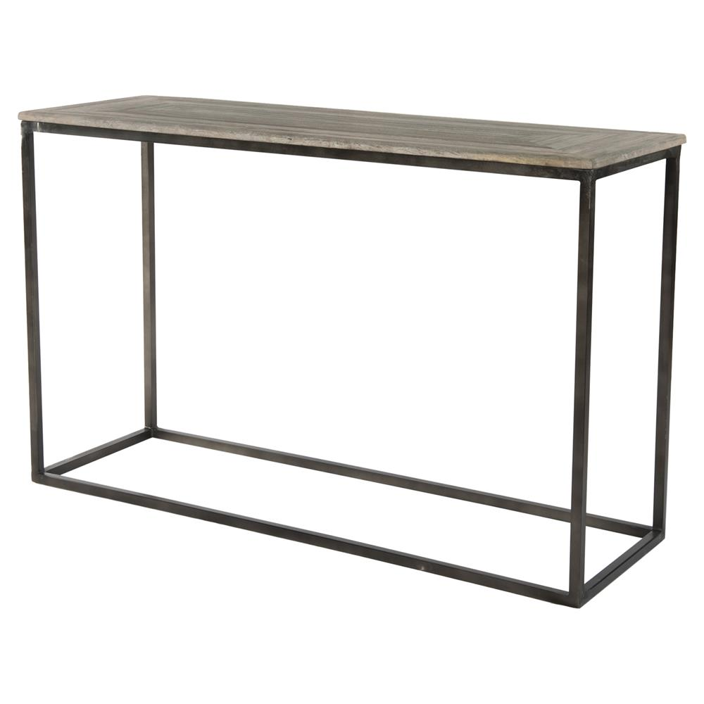 elgar industrial lodge metal wood console table kathy
