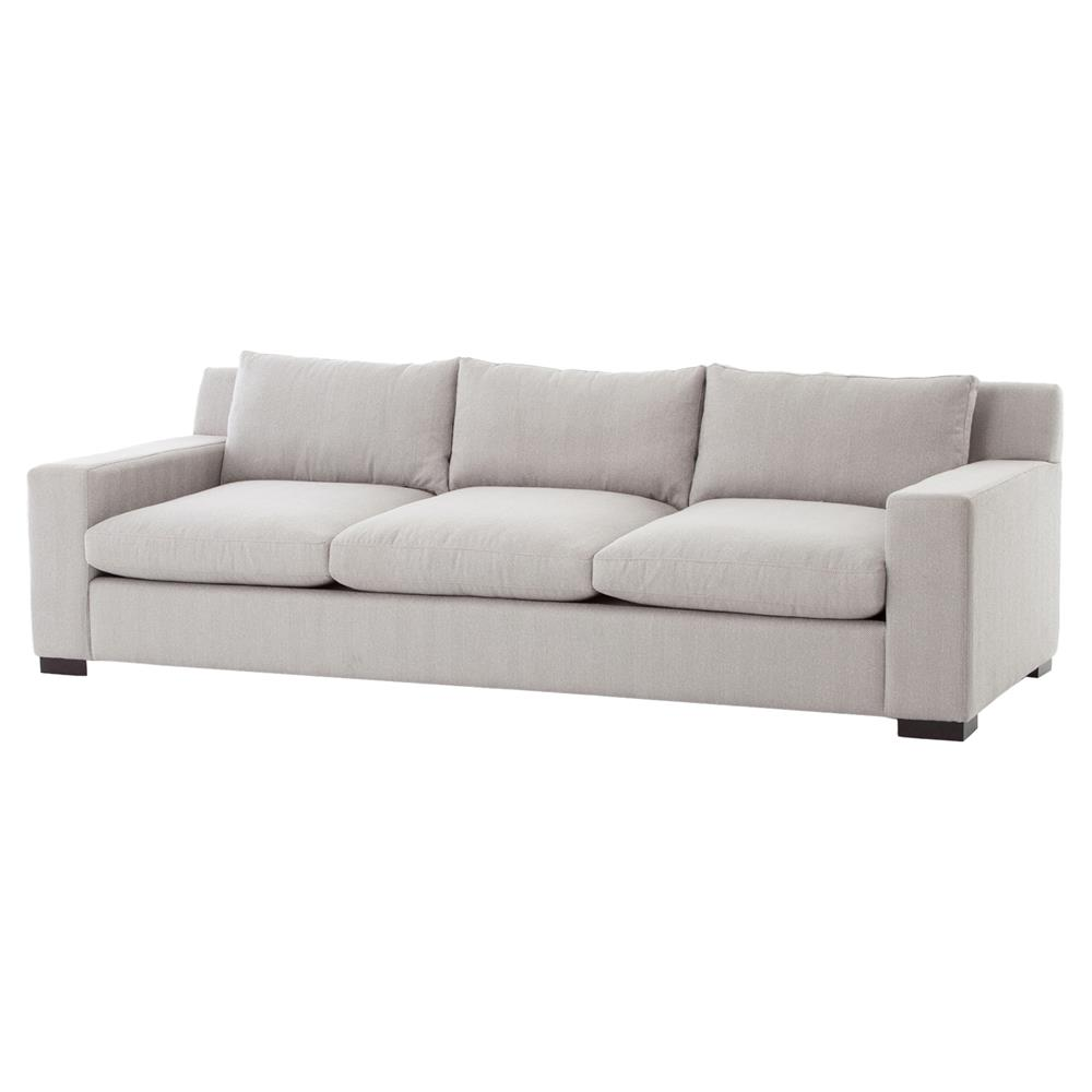 Burk Modern Ivory Grey Low Back Sofa Kathy Kuo Home