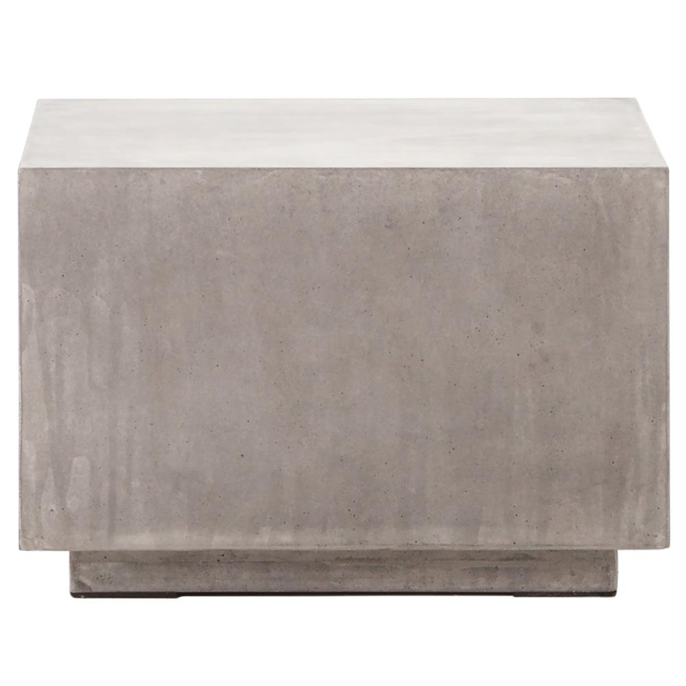 Hanz Loft Grey Block Concrete Cube Coffee Table Kathy Kuo Home