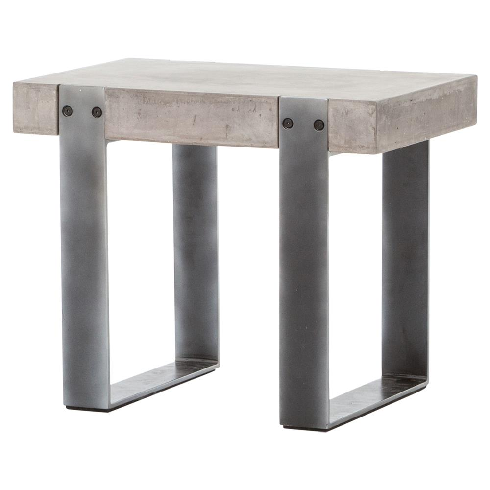 Frantz Industrial Modern Grey Metal