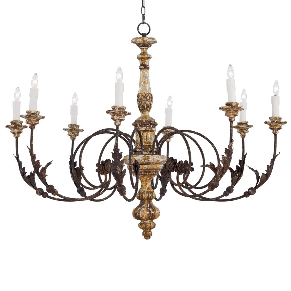 Oleander french country rustic iron leaf chandelier French country chandelier