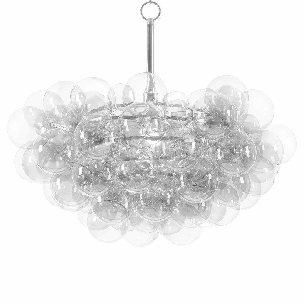 Sima modern floating glass bubbles clear chandelier