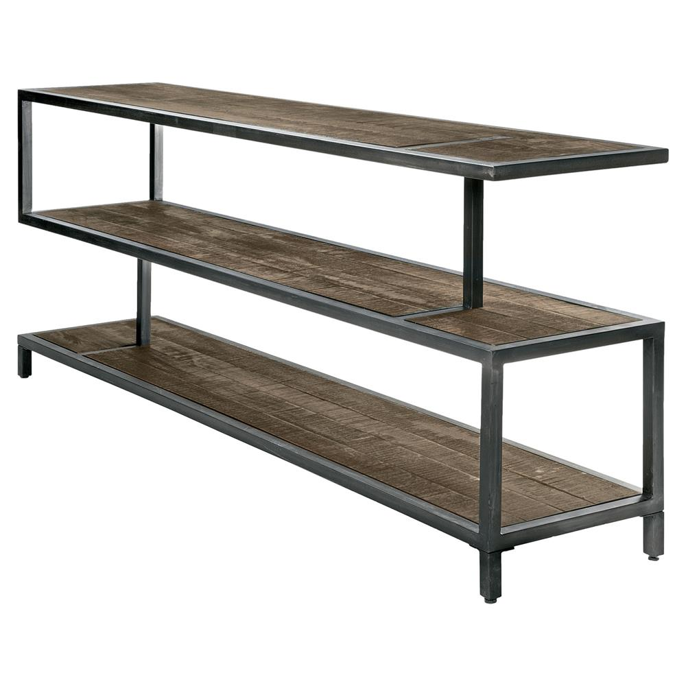 Everton Lodge Industrial Grey Metal Rustic Wood Console Table