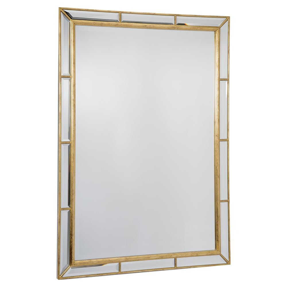 Best Taja Hollywood Antique Gold Beveled Rectangle Mirror | Kathy Kuo Home GN98