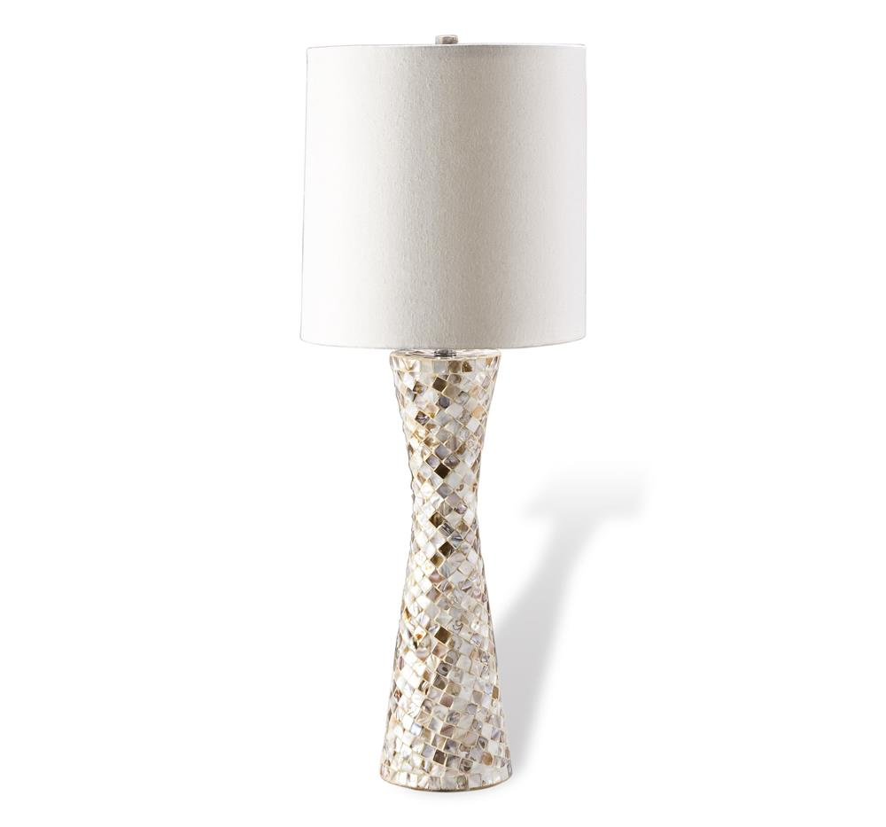 lighting table lamps sunset mother of pearl inlay hourglass lamp. Black Bedroom Furniture Sets. Home Design Ideas