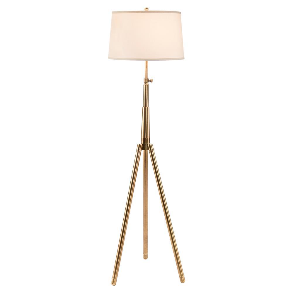 floor lamps eisenhower industrial modern gold tripod floor lamp. Black Bedroom Furniture Sets. Home Design Ideas