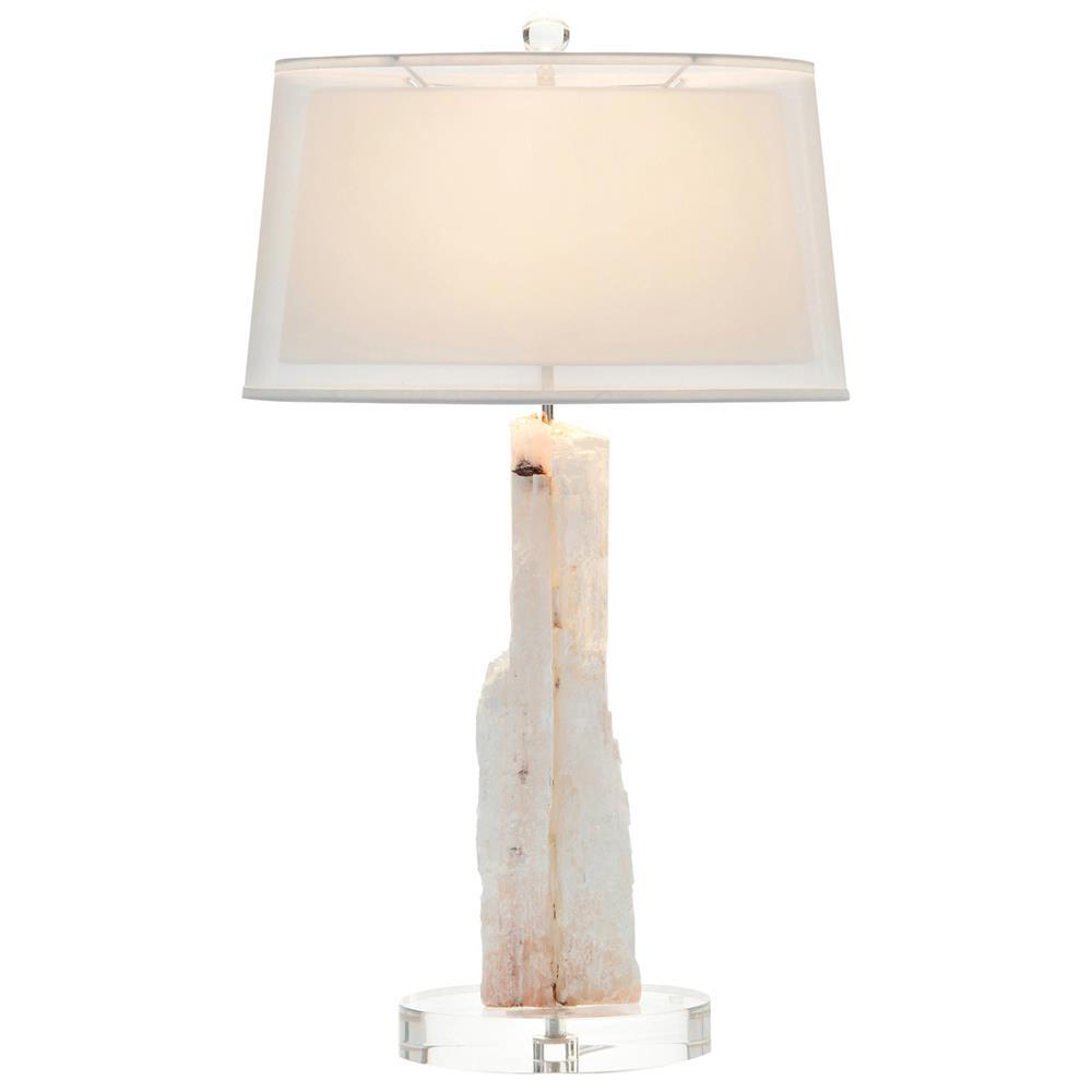 rosalie modern pink white crystal acrylic base table lamp. Black Bedroom Furniture Sets. Home Design Ideas