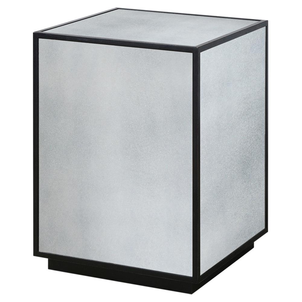 Tila Modern Industrial Black Mirror Block Coffee Table