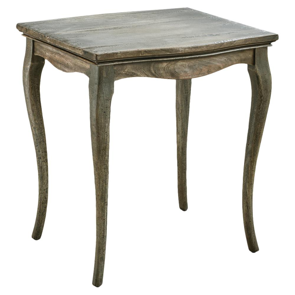 Gavon country curved rustic mahogany side table kathy for Rustic side table