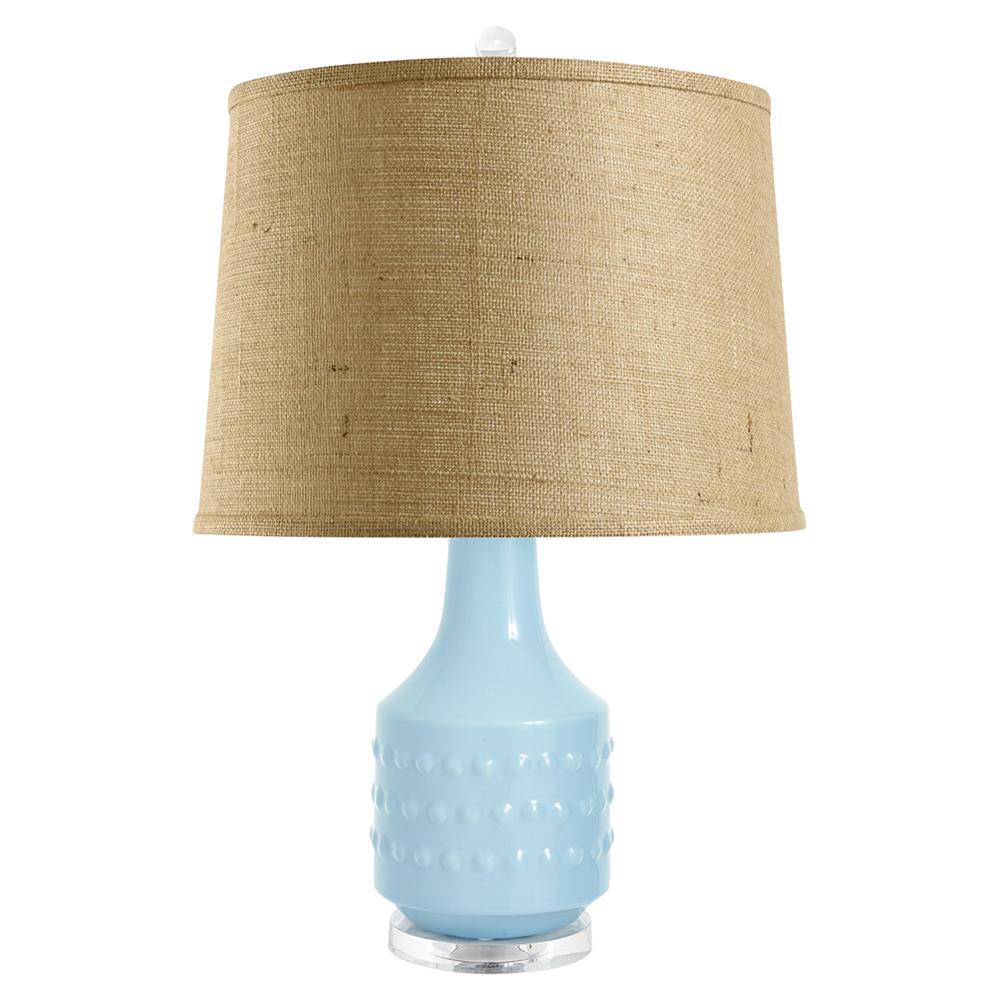 Coquina coastal beach light blue glaze ceramic burlap for Burlap lights