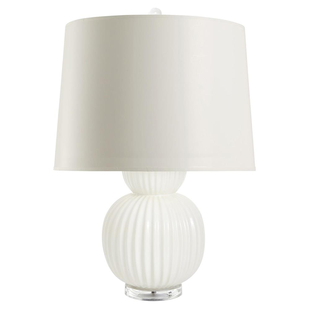 Jareth Modern Classic Double Gourd White Ceramic Paper Table Lamp