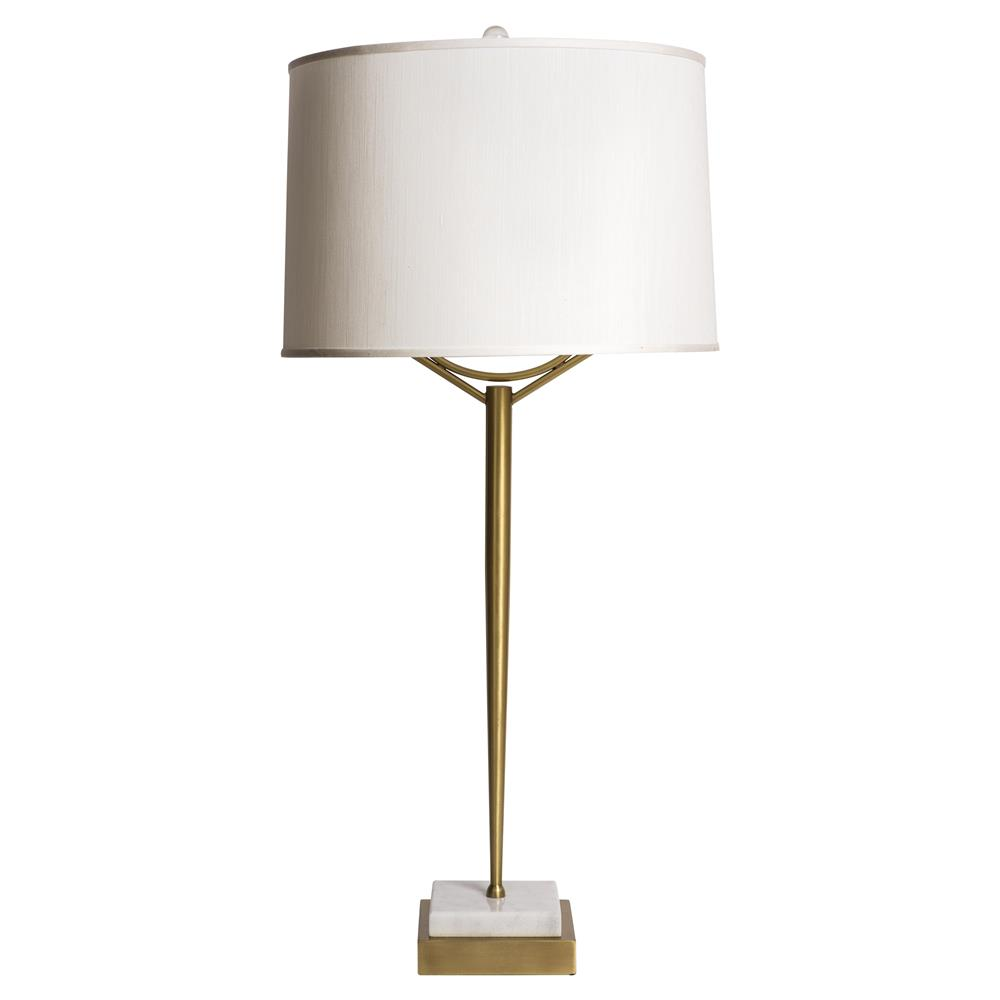 classic satin brass white marble base table lamp kathy kuo home. Black Bedroom Furniture Sets. Home Design Ideas