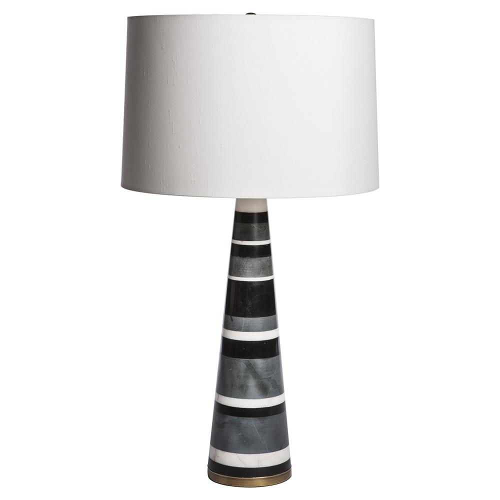modern classic tiered marble brass base table lamp kathy kuo home. Black Bedroom Furniture Sets. Home Design Ideas
