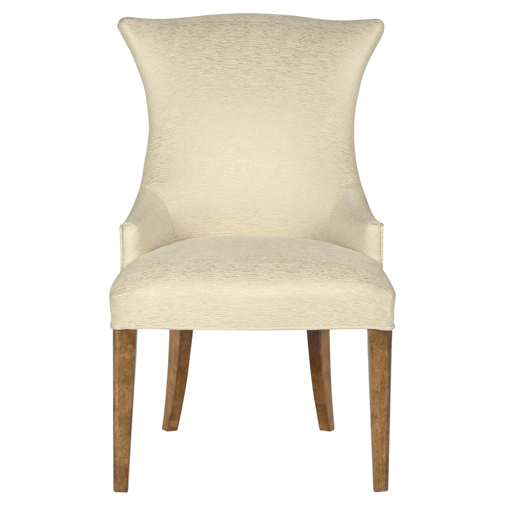 Mercer Upholstered Ivory Modern Wing Chair Kathy Kuo Home