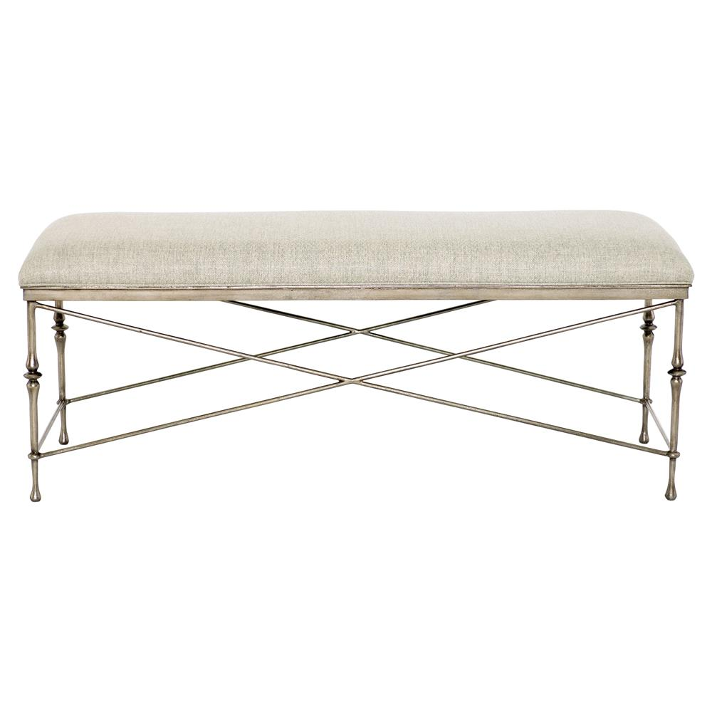 Biondo Modern Classic Antique Silver Ivory Upholstered