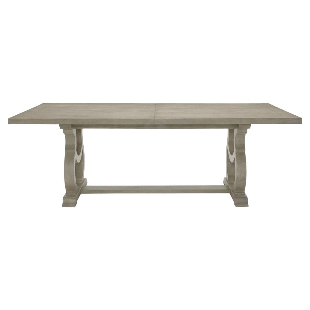 Country White Dining Table: Michaela French Country White Oak Veneer Walnut