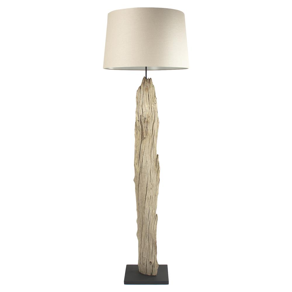image brown abuja with lamp driftwood rustic cotton floor shade