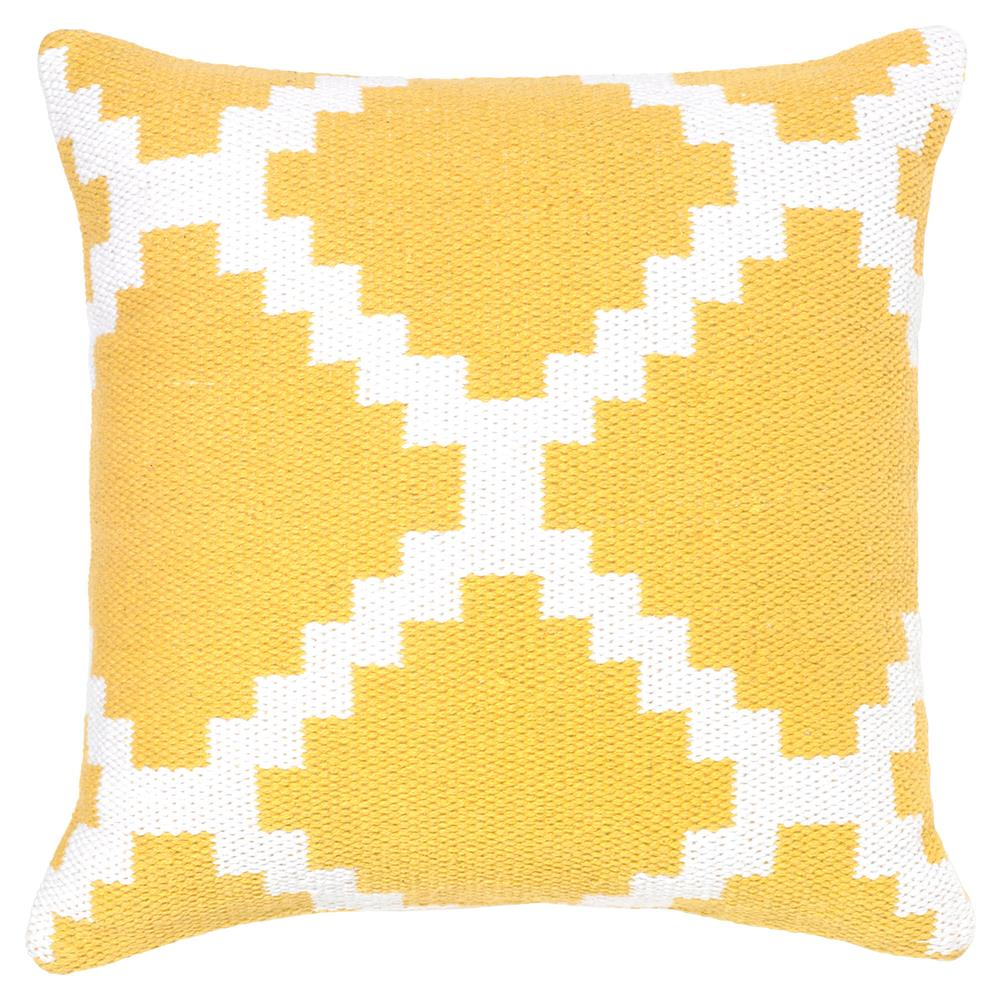 Litz modern yellow graphic pillow 18x18 kathy kuo home for Modern house 18x18