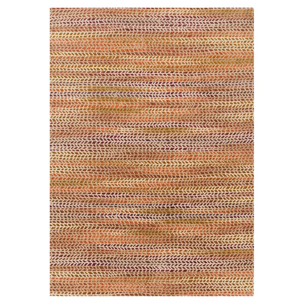 Sola Modern Orange Patterned Pink Rug 5x7 6 Kathy Kuo Home