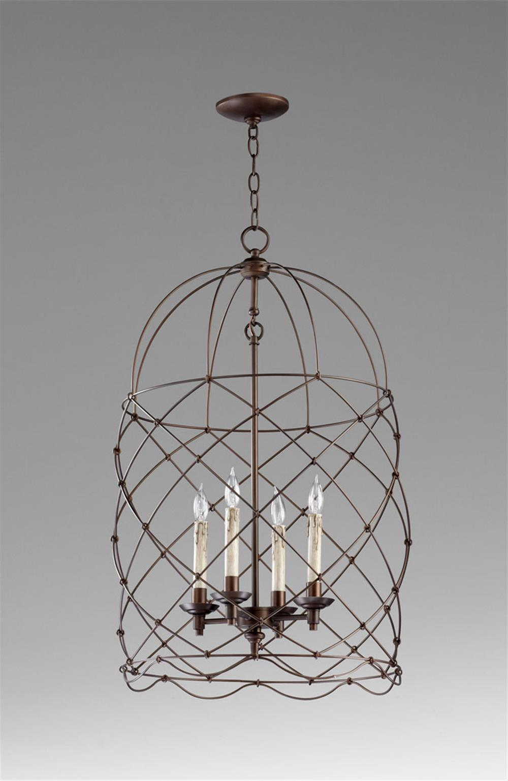 adele oil rubbed bronze four light bird cage chandelier. Black Bedroom Furniture Sets. Home Design Ideas